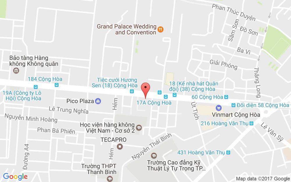 Vị trí bản đồ 91 Cộng Hòa, P. 4 Quận Tân Bình TP. HCM