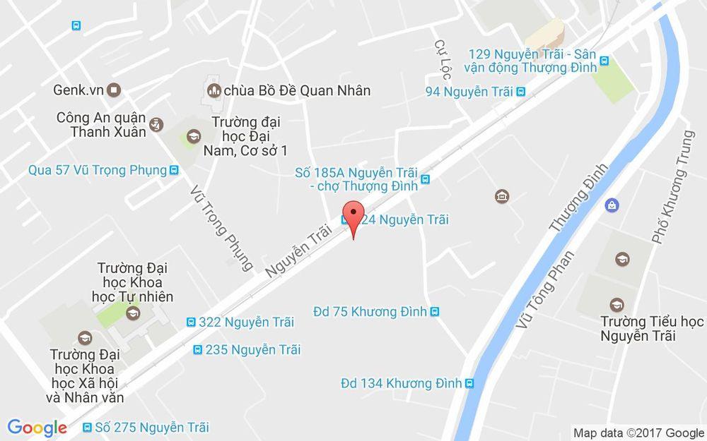 Vị trí bản đồ 231C Nguyễn Trãi Quận Thanh Xuân Hà Nội