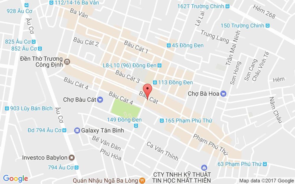 Vị trí bản đồ 159A Đồng Đen Quận Tân Bình TP. HCM