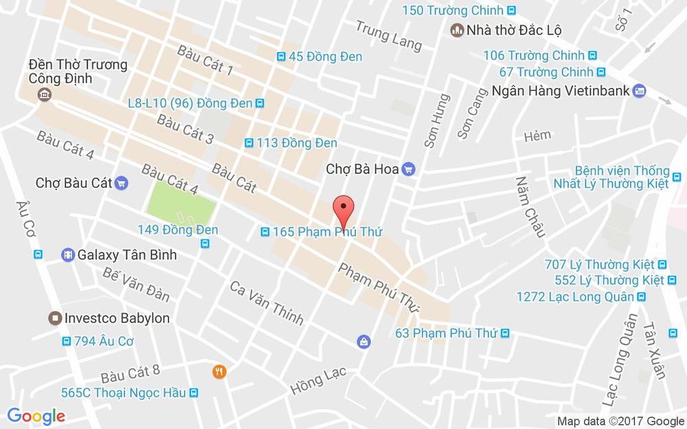 Vị trí bản đồ 301 Bàu Cát Quận Tân Bình TP. HCM