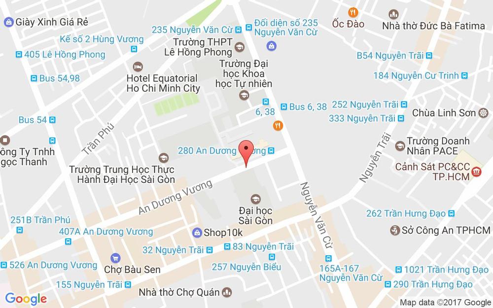 Vị trí bản đồ 275 An Dương Vương Quận 5 TP. HCM