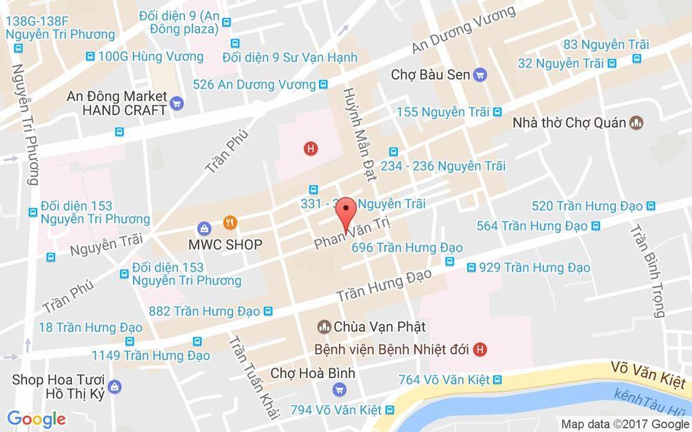 Vị trí bản đồ 467 Phan Văn Trị Quận 5 TP. HCM