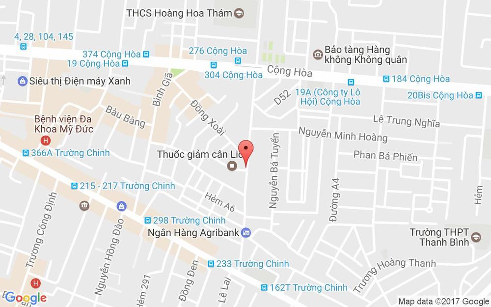 Vị trí bản đồ 35 Hoàng Hoa Thám Quận Tân Bình TP. HCM