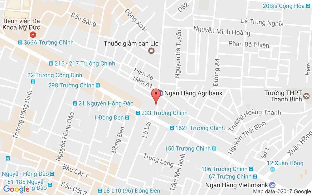 Vị trí bản đồ 52 Hoàng Hoa Thám Quận Tân Bình TP. HCM