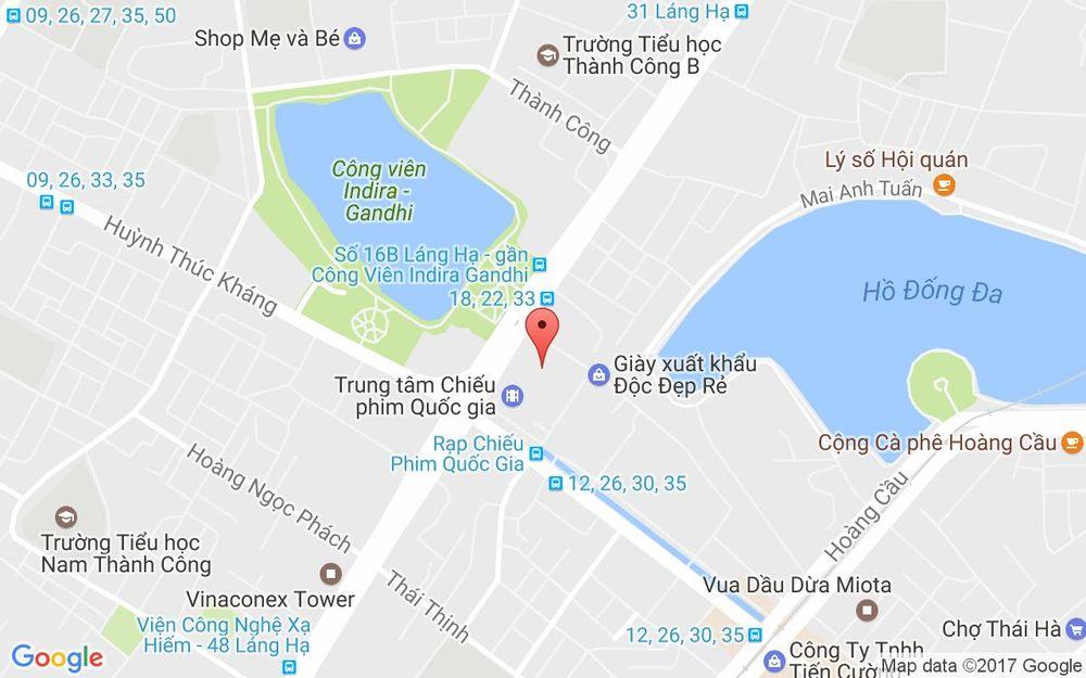 Vị trí bản đồ Rạp Trung Tâm Chiếu Phim Quốc Gia ở Hà Nội