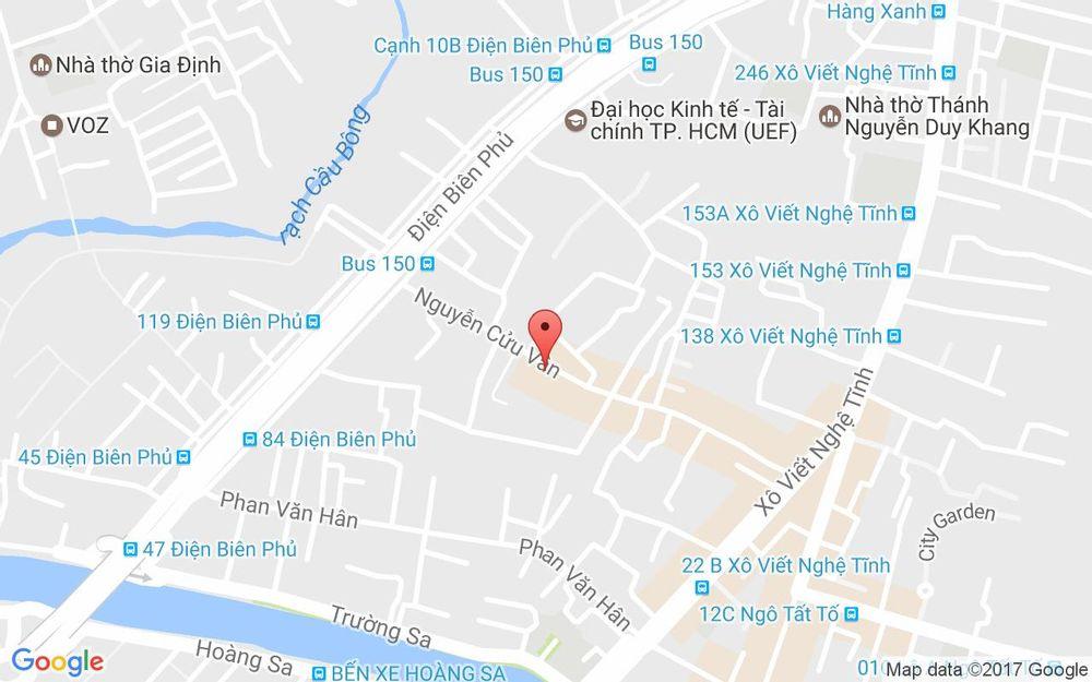 Vị trí bản đồ 66 Nguyễn Cửu Vân, P. 17 Quận Bình Thạnh TP. HCM