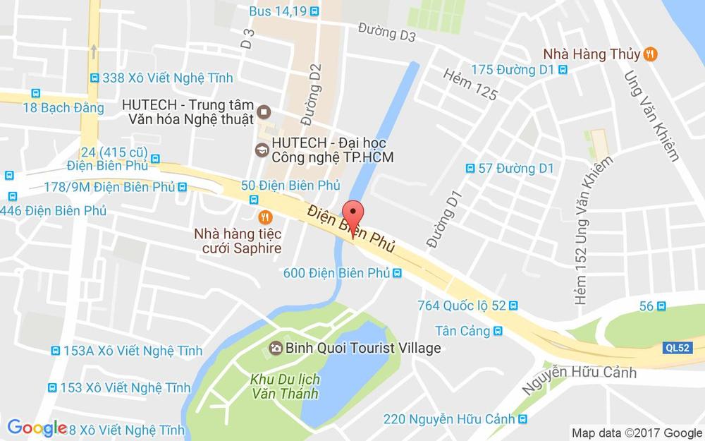 Vị trí bản đồ 477 Điện Biên Phủ, P. 25 Quận Bình Thạnh TP. HCM