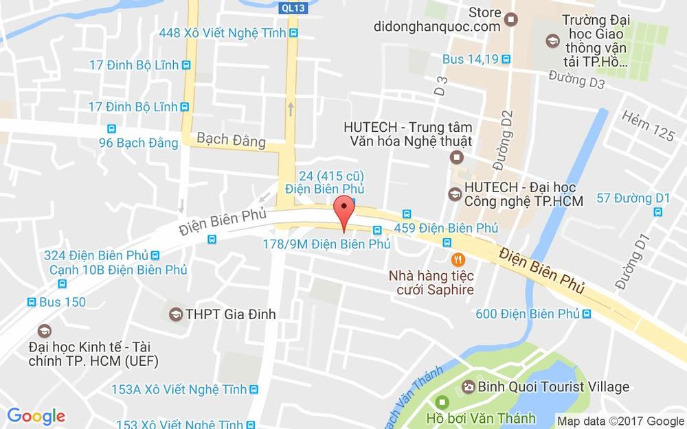 Vị trí bản đồ 488 Điện Biên Phủ, P. 21 Quận Bình Thạnh TP. HCM