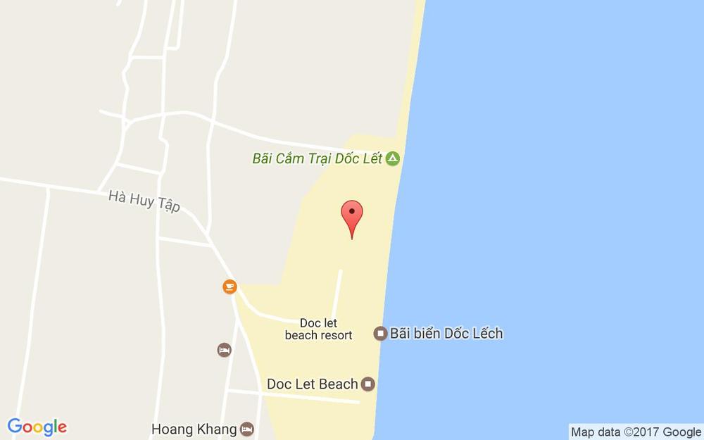 Vị trí bản đồ Bãi Biển Dốc Lết Ninh Hòa Khánh Hoà