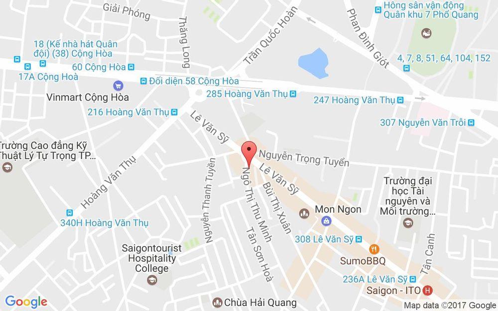 Vị trí bản đồ 63 Ngô Thị Thu Minh Quận Tân Bình TP. HCM