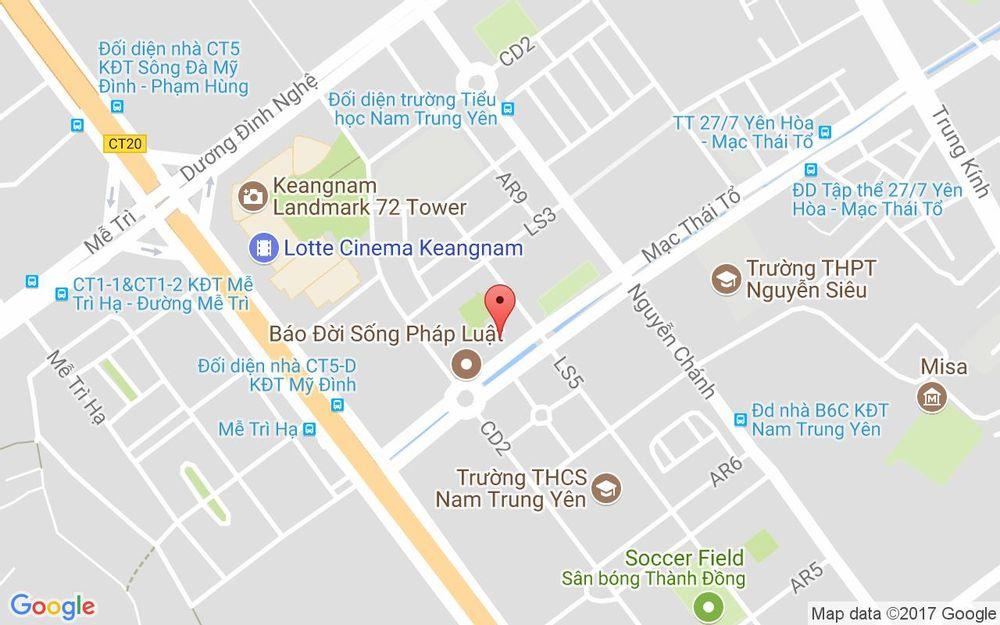 Vị trí bản đồ Tầng 10, Keangnam Landmark, 72 Phạm Hùng Quận Nam Từ Liêm Hà Nội