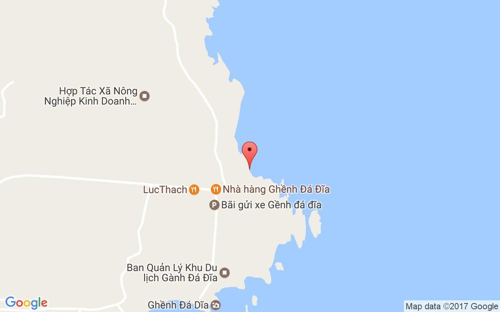 Vị trí bản đồ Gành Đá Đĩa - Xã An Ninh Đông ở Phú Yên