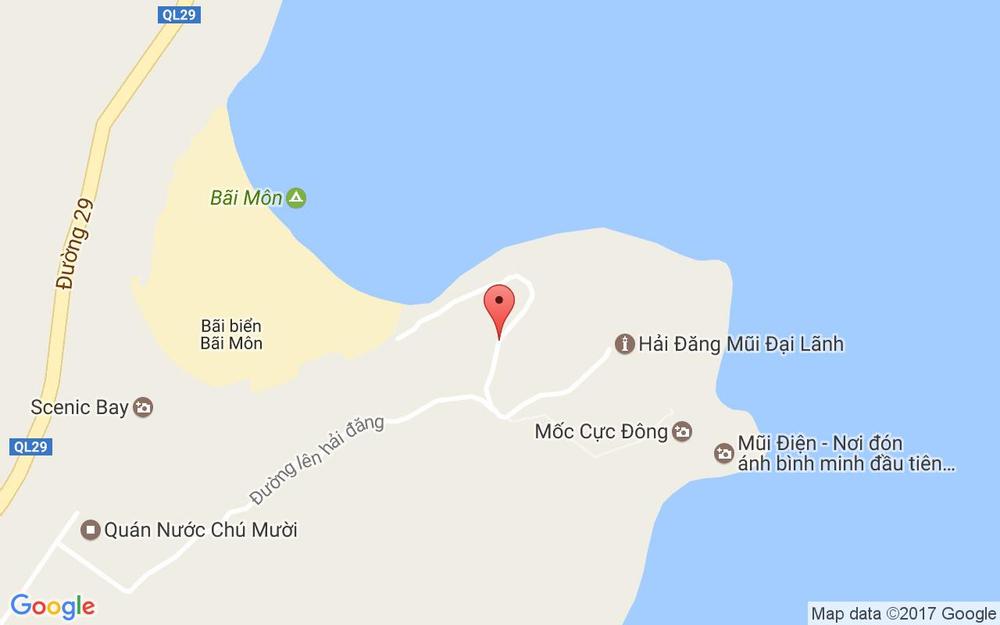 Vị trí bản đồ Mũi Điện - Phú Yên ở Phú Yên