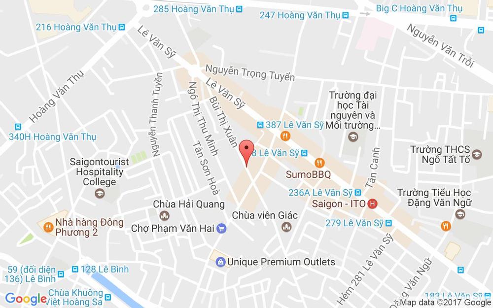 Vị trí bản đồ 146 Bùi Thị Xuân Quận Tân Bình TP. HCM