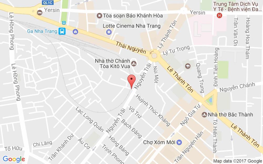 Vị trí bản đồ Hẻm Đề Pô Tp. Nha Trang Khánh Hoà