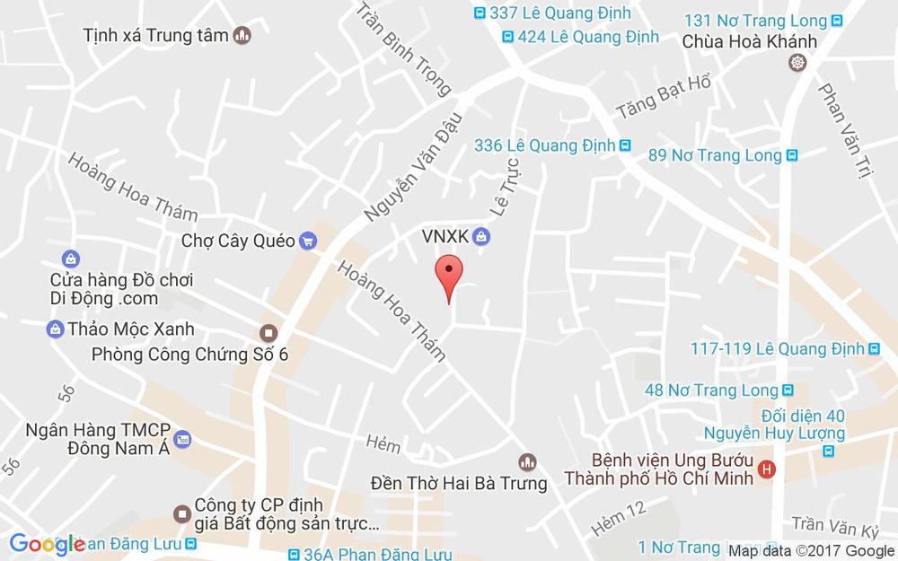 Vị trí bản đồ 80/15B Hoàng Hoa Thám, P. 7 Quận Bình Thạnh TP. HCM