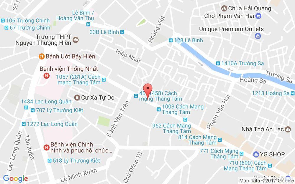 Vị trí bản đồ 1034 Cách Mạng Tháng 8, P. 5 Quận Tân Bình TP. HCM