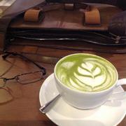 Latte trà xanh nóng