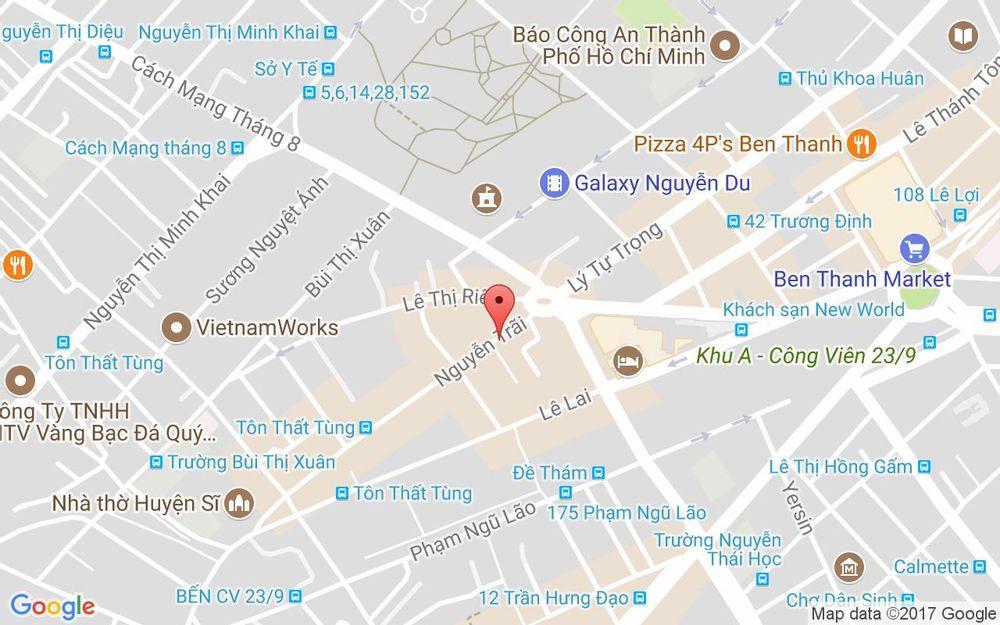 Vị trí bản đồ 31 Nguyễn Trãi, P. Bến Thành Quận 1 TP. HCM