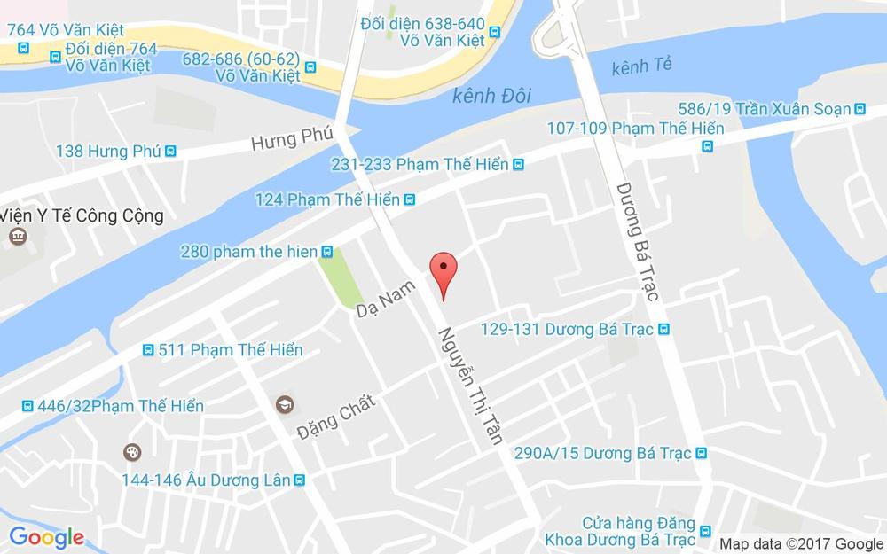 Vị trí bản đồ 7 Nguyễn Thị Tần, P. 2 Quận 8 TP. HCM