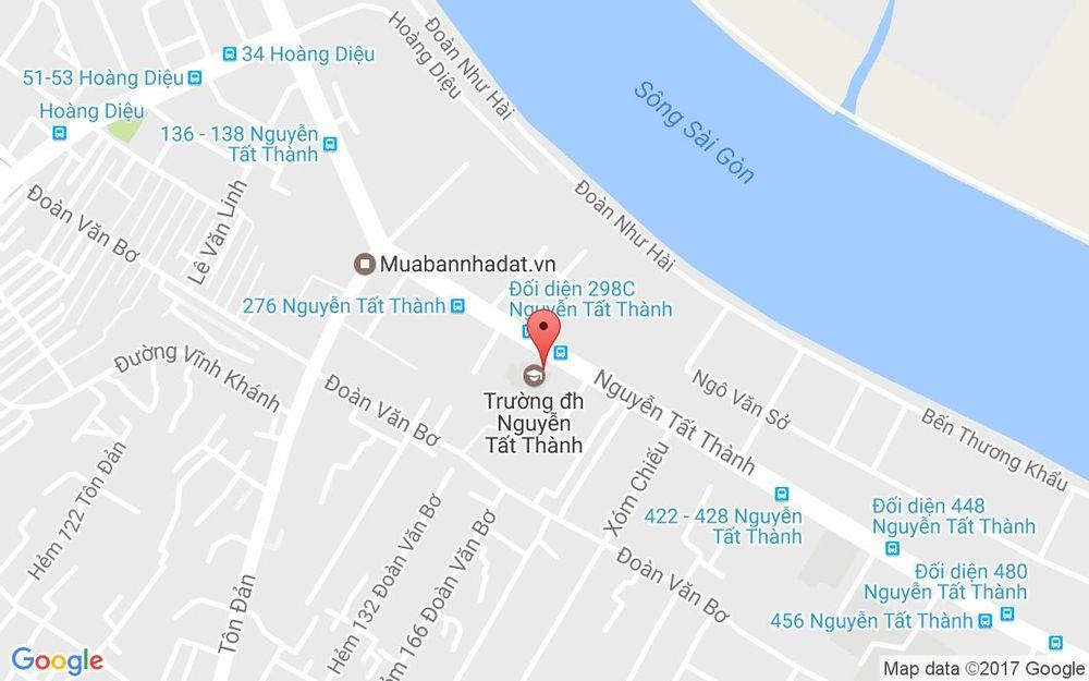 Vị trí bản đồ Đại Học Nguyễn Tất Thành ở TP. HCM