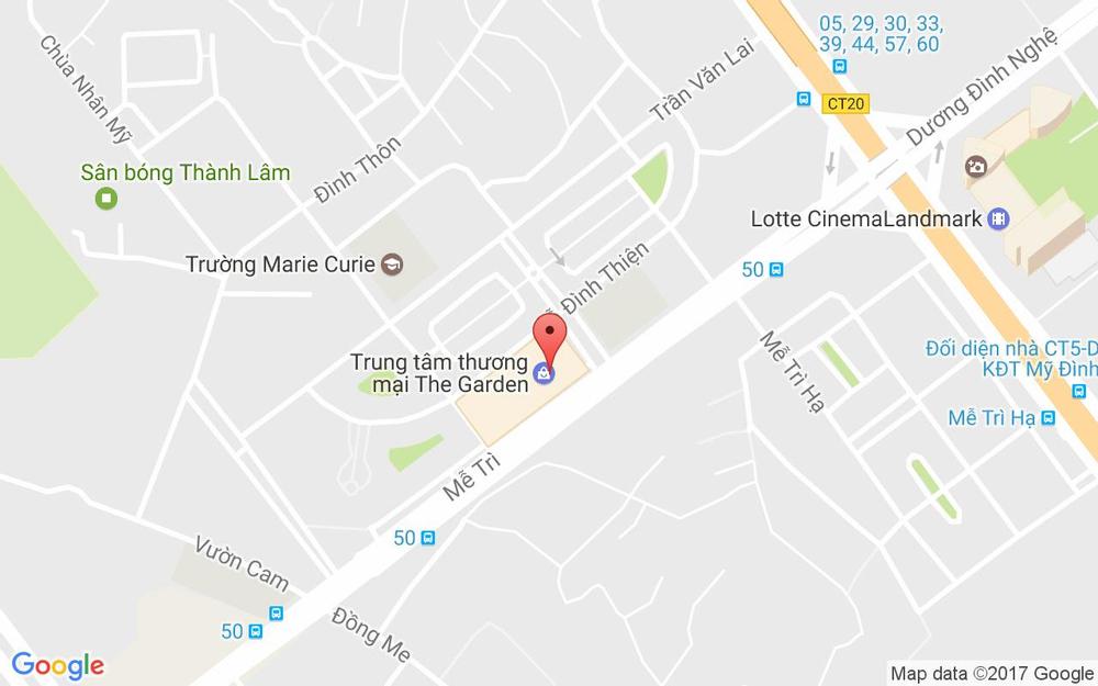 Vị trí bản đồ Tầng G, The Garden, Mễ Trì Quận Nam Từ Liêm Hà Nội