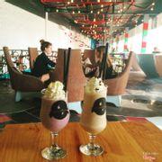 Sinh tố việt quất + coffee dừa