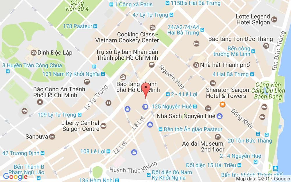 Vị trí bản đồ Liberty Central Saigon City Point, 59 - 61 Pasteur Quận 1 TP. HCM