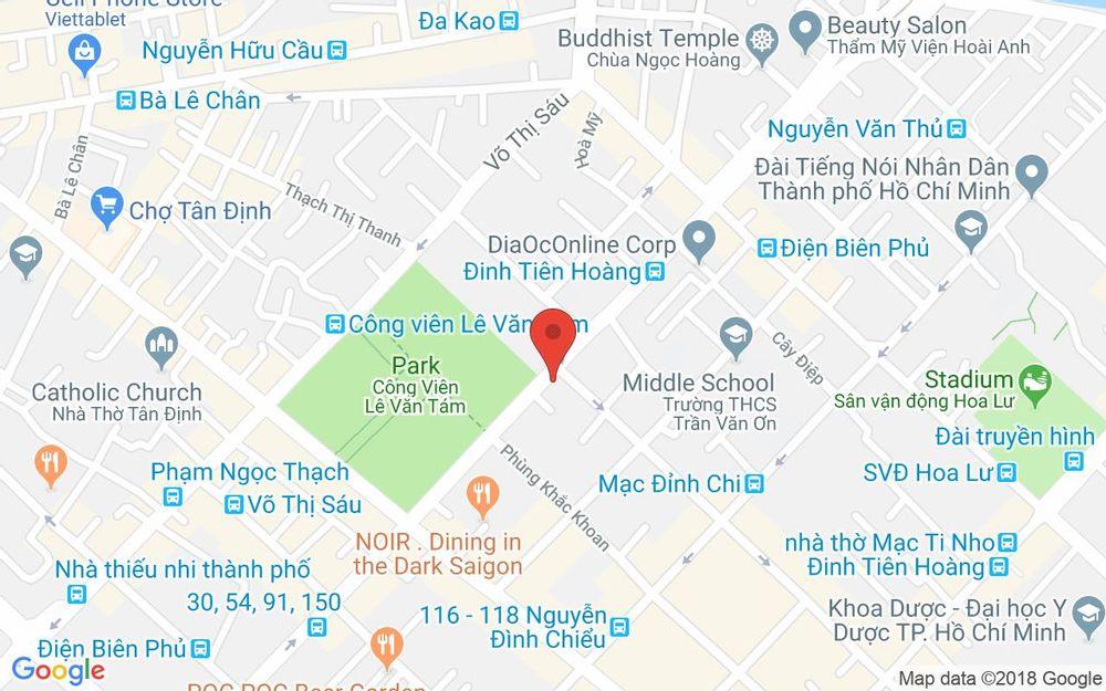 Vị trí bản đồ 73 Mạc Đĩnh Chi Quận 1 TP. HCM