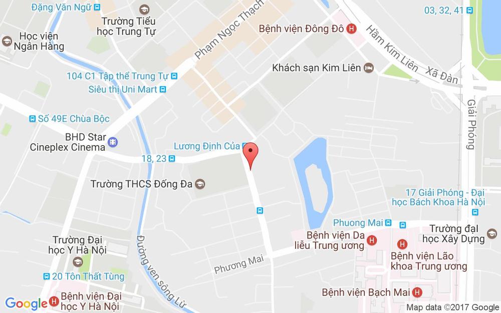 Vị trí bản đồ 28 Lương Định Của Quận Đống Đa Hà Nội