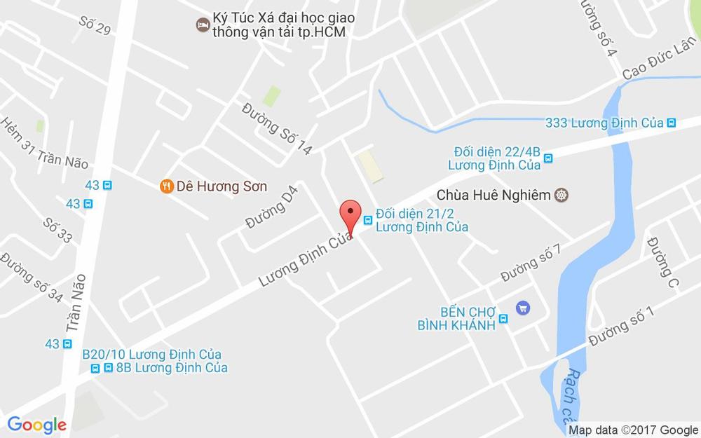 Vị trí bản đồ 1/5 Bis Lương Định Của, P. Bình Khánh Quận 2 TP. HCM
