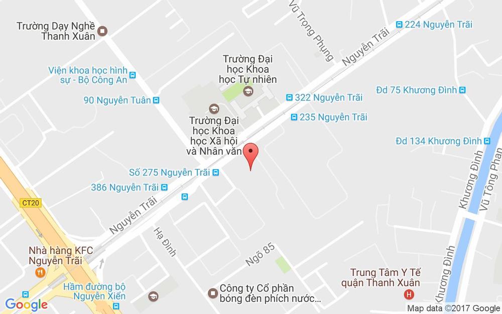 Vị trí bản đồ 275 Nguyễn Trãi Quận Thanh Xuân Hà Nội