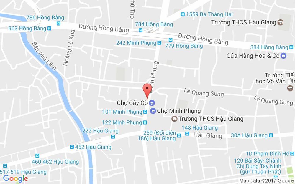 Vị trí bản đồ Nhà Sách Cây Gõ - Minh Phụng ở TP. HCM
