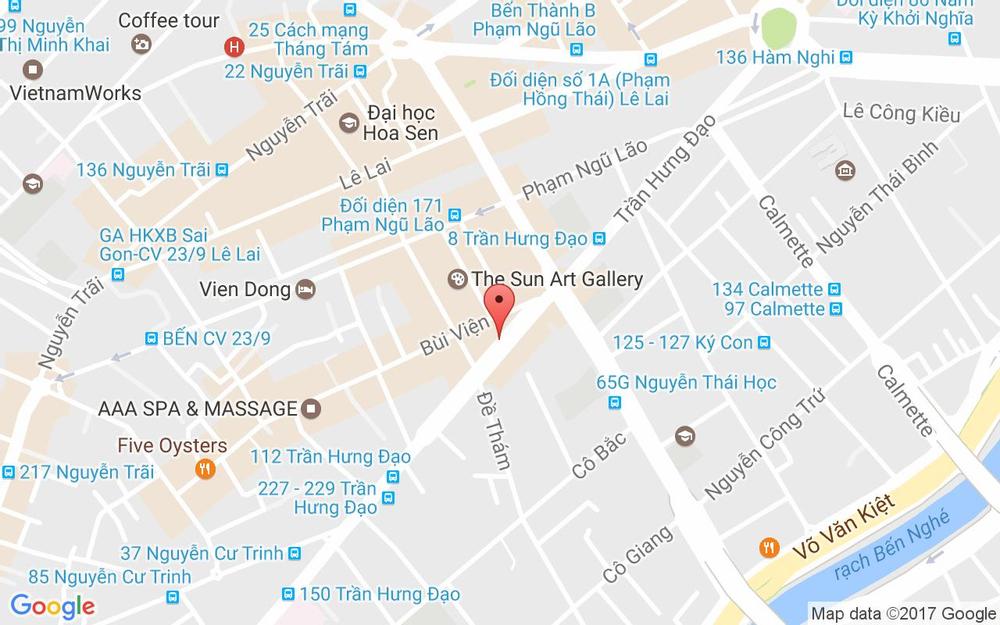 Vị trí bản đồ 26 Trần Hưng Đạo Quận 1 TP. HCM