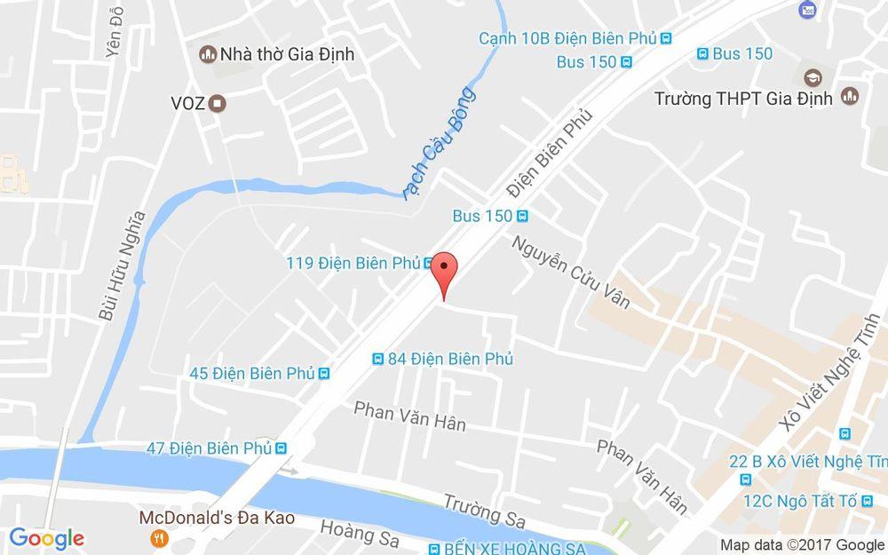 Vị trí bản đồ 276 Điện Biên Phủ, P.17 Quận Bình Thạnh TP. HCM