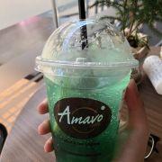 Green taste soda