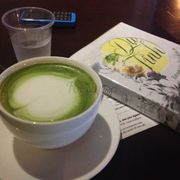 Hot greentea latte