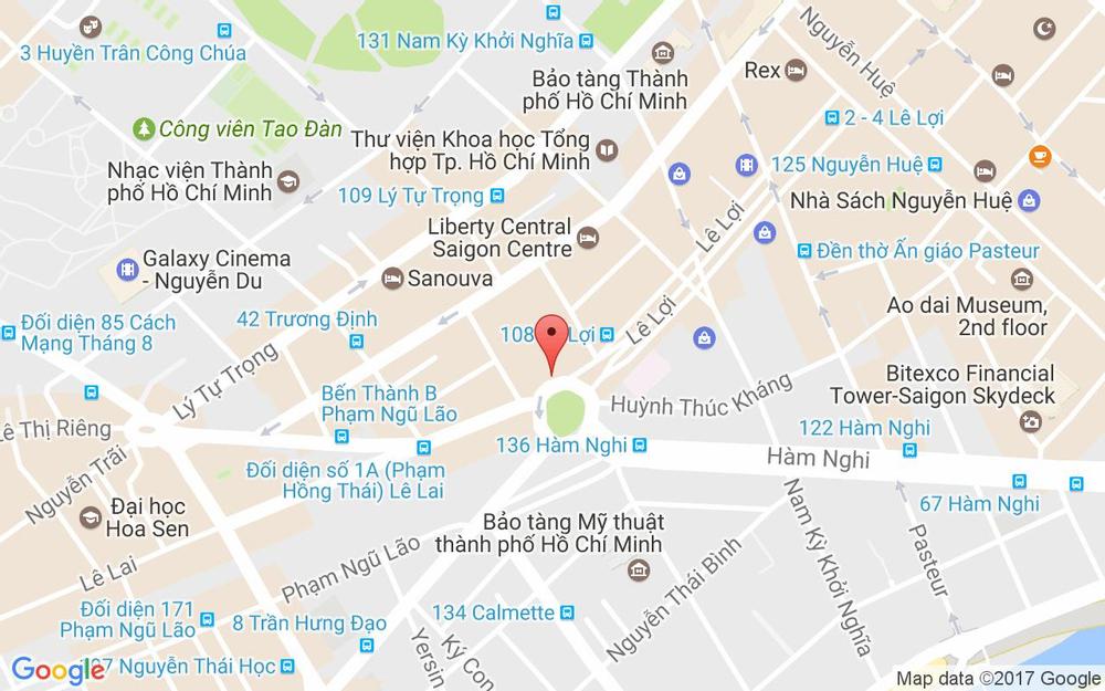 Vị trí bản đồ Lê Lợi, Bến Thành Quận 1 TP. HCM