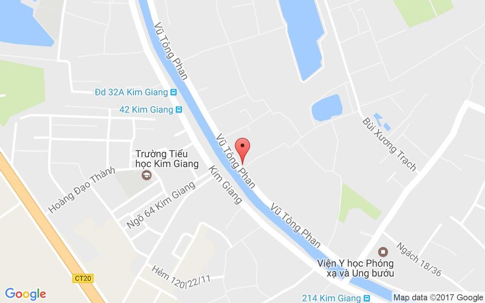 Vị trí bản đồ 617 Vũ Tông Phan Quận Thanh Xuân Hà Nội