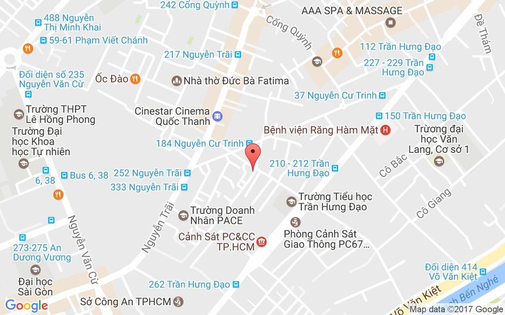 Vị trí bản đồ 122D Trần Đình Xu, P. Nguyễn Cư Trinh Quận 1 TP. HCM