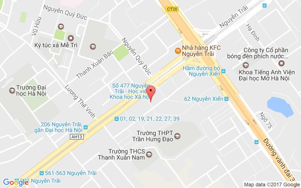 Vị trí bản đồ Tầng 1 Nhà H10 Ngõ 477 Nguyễn Trãi Quận Thanh Xuân Hà Nội