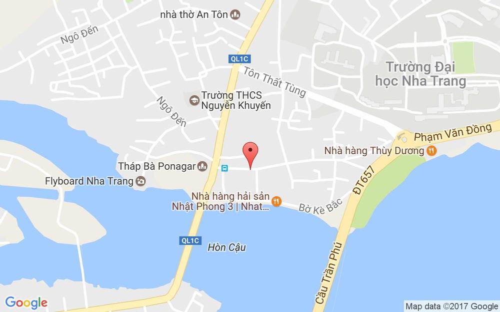 Vị trí bản đồ 155 Tháp Bà, P. Vĩnh Thọ Tp. Nha Trang Khánh Hoà