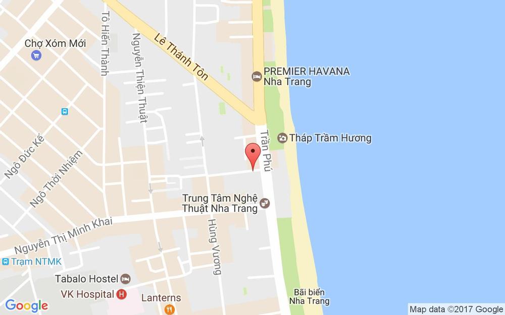 Vị trí bản đồ Hùng Vương - Trần Phú Tp. Nha Trang Khánh Hoà