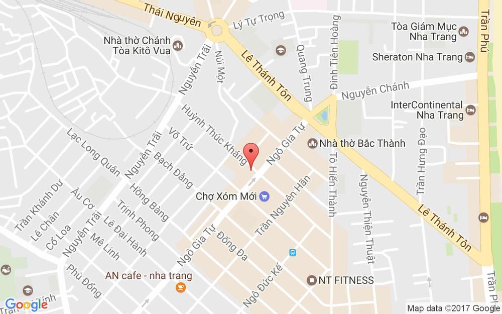 Vị trí bản đồ 62-64 Huỳnh Thúc Kháng, P. Phước Tiến Tp. Nha Trang Khánh Hoà