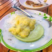Kem flan sầu riêng
