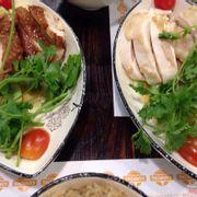 Cơm gà hải nam + cơm gà quay kampong