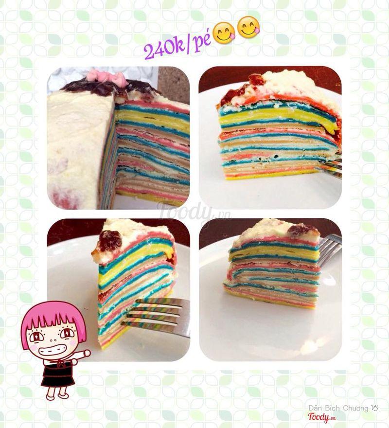 Rainbow Crepe Cake (240k/ ổ)