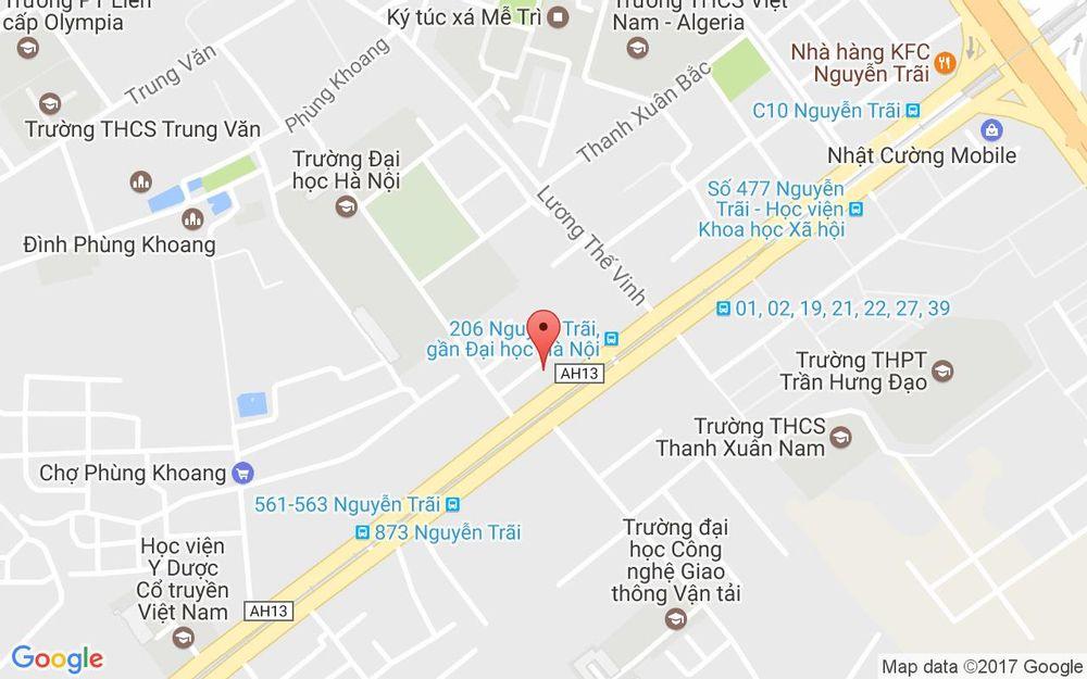 Vị trí bản đồ 182 Lương Thế Vinh Quận Thanh Xuân Hà Nội