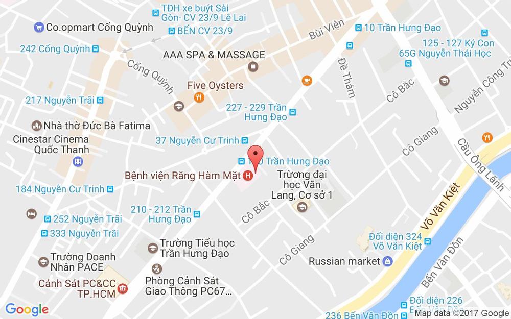 Vị trí bản đồ 263 Trần Hưng Đạo Quận 1 TP. HCM