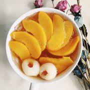trà đào trái cây tô